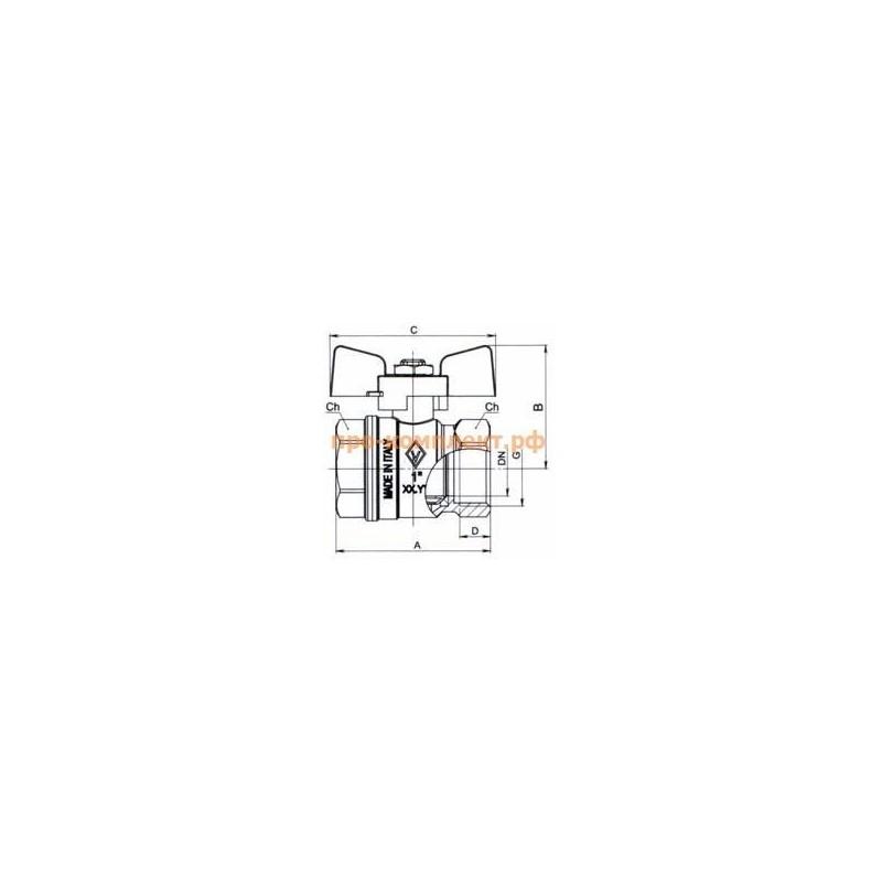 Кран шаровой BUGATTI 912 1/2 М-М