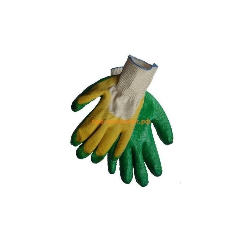 Перчатки рабочие 13 класс с двойным латексным обливом СУПЕР ЛЮКС 50 гр.