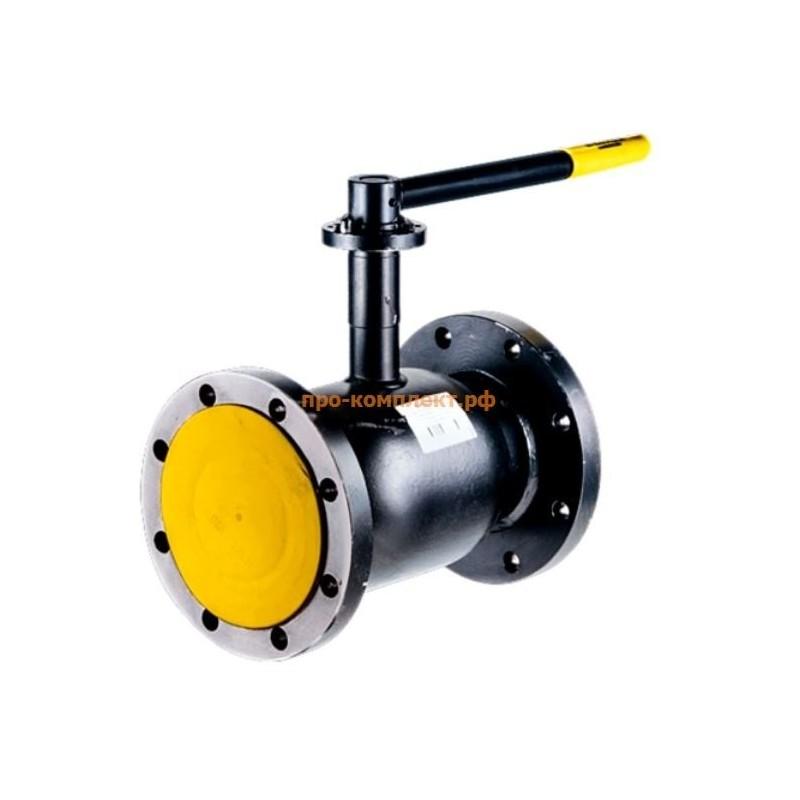 Кран шаровой сталь Ballomax КШТ 61.103 Ду 125 Ру16 фл ISO-фл и рукоятка BROEN