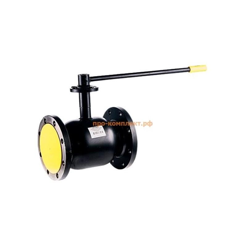 Кран шаровой сталь Ballomax КШТ 61.103 Ду 150 Ру16 фл ISO-фл и рукоятка BROEN