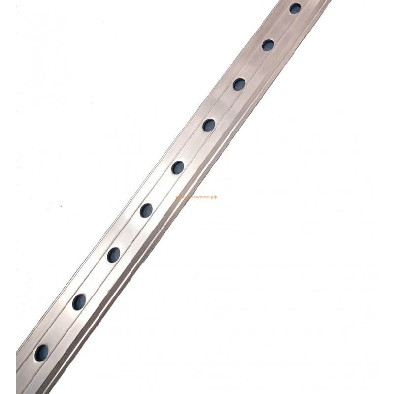 Кровельная рейка краевая (угловая) алюминиевая с перфорацией